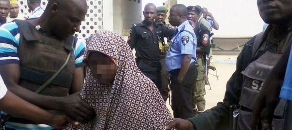 Suspected suicied bomber used to illustrate the story' [Photo credit: New Mail Nigeria]