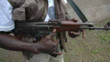 Gunmen used to illustrate the story.