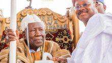 Ajimobi and Olubadan. [Photo credit: Guardian Nigeria]