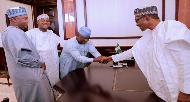 Buhari meets with APC leaders