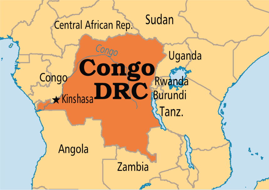 Congo Kinshasa Map Africa.36 People Missing As Boat Sinks In Drc Police Premium