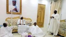 Gani Adams at the Ooni of Ife Palace