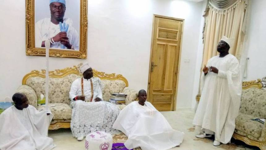 Image result for New Aare Onakakanfo Visits Ooni Of Ife