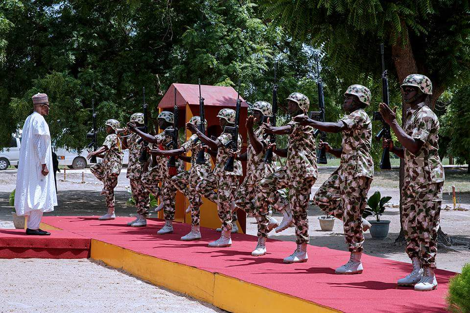#NigeriaAt57 Update on President Buhari Independence Day Visit To Troops in Borno