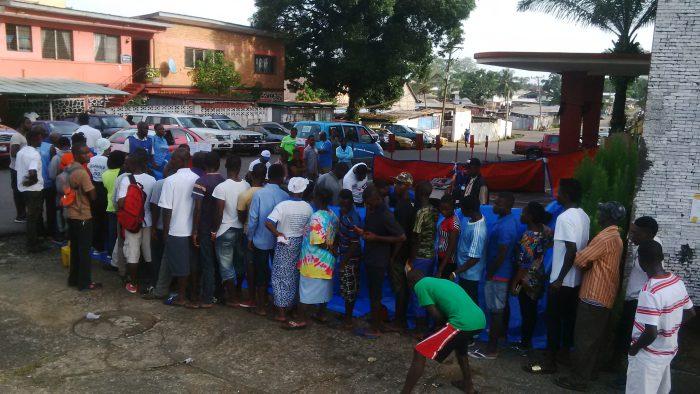 Liberians Voting