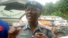 Customs official addressing journalists