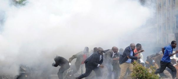 Kenyan protesters teargassed [Photo: bbc.com]