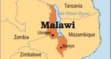 Malawi on map