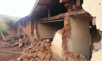 A building razed down in the Mambilla-Plateau attack