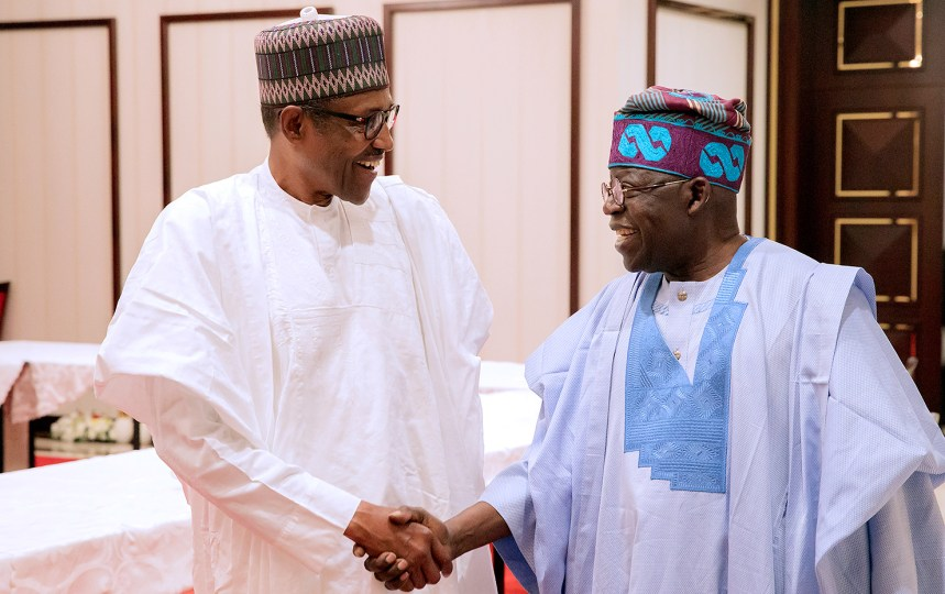 APC Chieftain Bola Tinubu meets Buhari