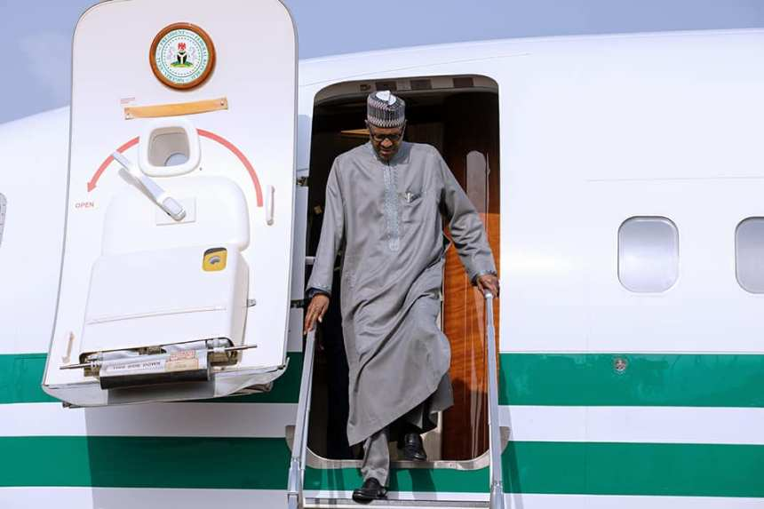 President Muhammadu Buhari returning from Turkey