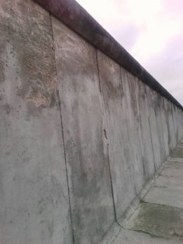 Remnants of Collapsed Berlin Wall