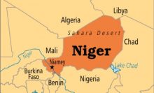 Niger Republic on map