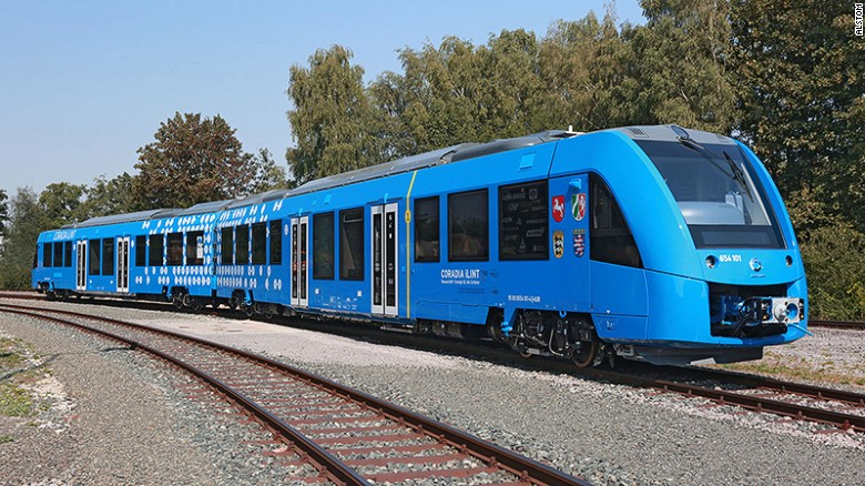 Germany signs contract for World's first hydrogen-powered passenger trains [Photo: CNN.com]