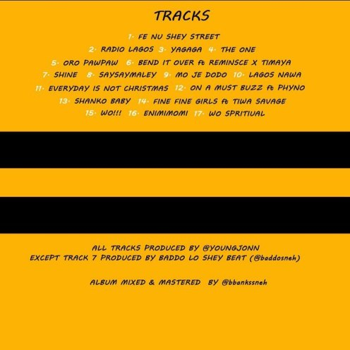 Olamide official tracklist to Lagos Nawa