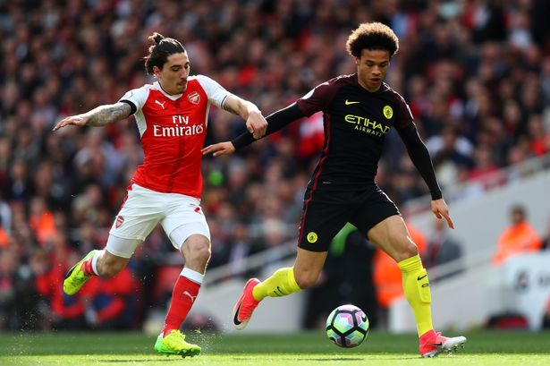 Arsenal FC and Manchester City used to illustrate the picture. [Photo credit: Daily Mirror]