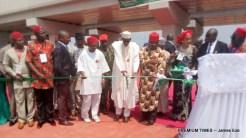 Buhari commissioning the new Akanu Ibiam flyover-001