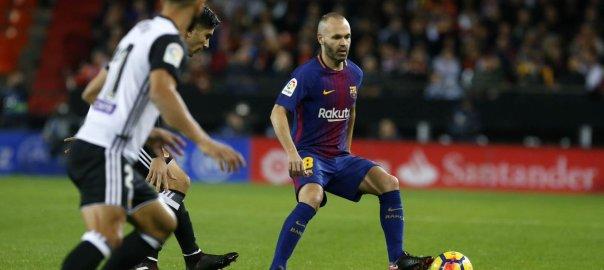 The Barcelona versus Valencia match