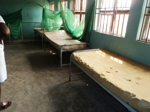 Bare mattresses at Orogwe Model Health Centre: But is this model?