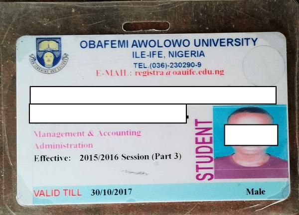 Expired student ID