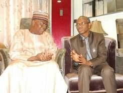 Senator Goje with Governor Nasir El-Rufai