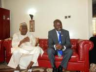 Senator Danjuma Goje with EFCC Chairman, Ibrahim Magu