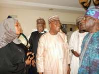 Senator Goje with Minister of Information, Lai Mohammed and APC Chieftain, Bola Tinubu