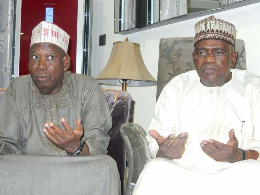 Senator Goje with Kano State Governor, Abdullahi Ganduje