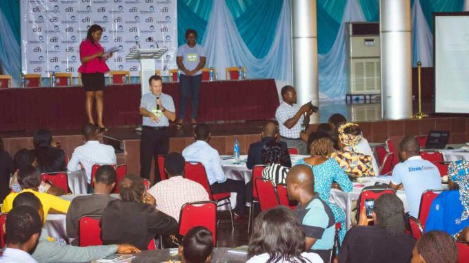 Martin Finnegan, project manager at Technoserve speaking to participants [Photo credit: Ebuka Onyeji]