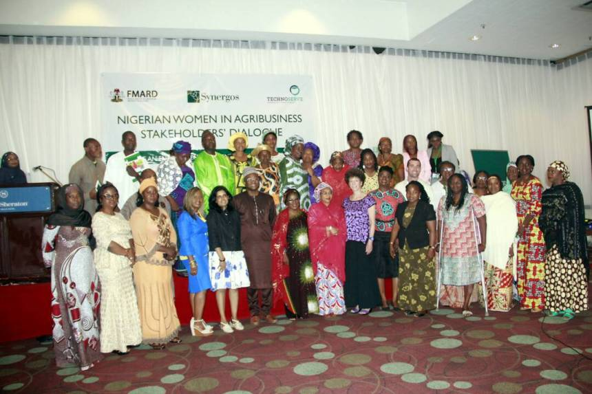 A cross section of the organizers of the Nigerian Women in Agribusiness Stakeholders' Dialogue held in Abuja