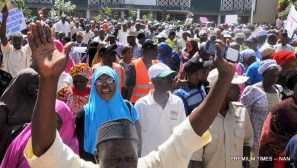 Image result for Hundreds support planned  sack of unqualified  teachers in Kaduna
