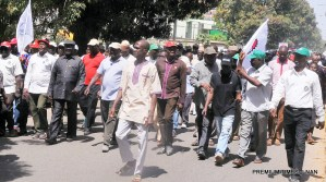 Pic.14. NUT protests over sacked teachers in Kaduna