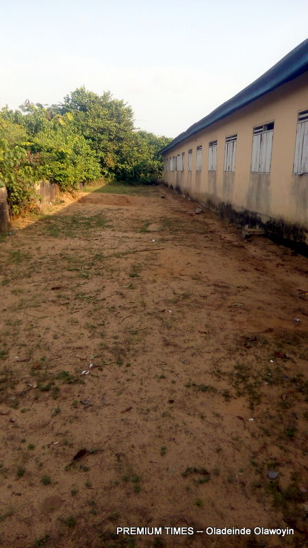 The open space where pupils defecate