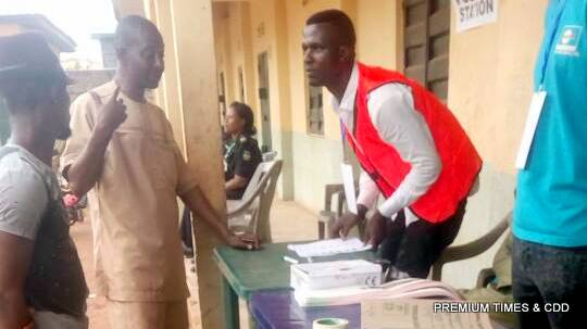 Manual accreditation going on at PU 003 Ubuluisiozor Ihiala LGA