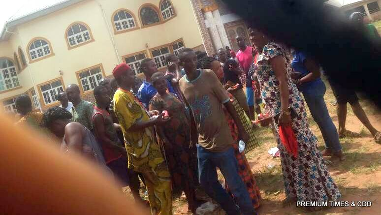 APGA agent sharing gala and malt at Polling unit 020 and 021. Community primary school 1/2 Abatete
