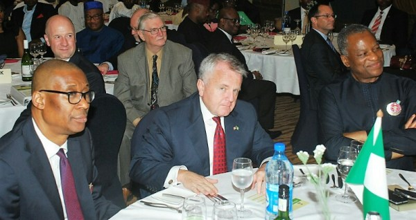 L:R: Minister of Trade and Investment, Okechukwu Enelemah; US Deputy Secretary of State, John Sullivan; Minister of Foreign Affairs, Geoffrey Onyema; at the dinner to mark the end of the Nigeria - USA Bi-National Commission in Abuja