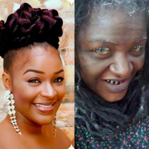 Chacha Eke as an old woman