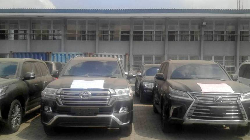 The confiscated vehicles
