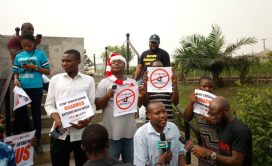 Nigerians join the #EndSARS protest nationwide.
