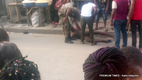 Soldiers brutalise man, strip him naked