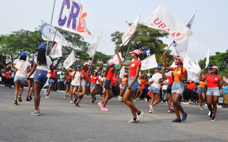 Procession at the flag-off of the final dry run of the Calabar Carnival in Calabar, Cross River State, on Sunday.
