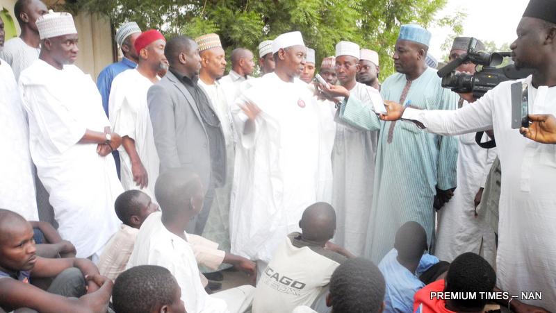 Pic.1.Suleiman Hassan release 36 prison in Gombe