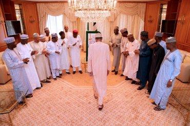 President Muhammadu Buhari being celebrated at his birthday