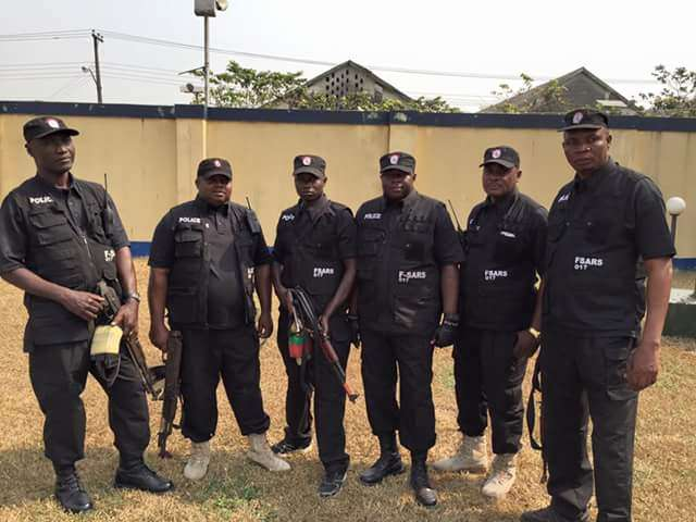Special anti robbery squad of the Nigerian police force used to illustrate the story. [Photo credit: Pulse.ng]