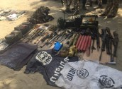 Weapons recovered by the Nigerian army.