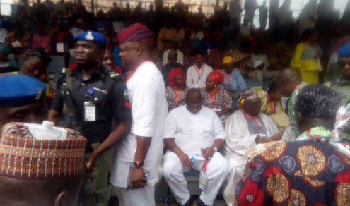 Buruji Kashamu attending the convention despite being suspended by the PDP