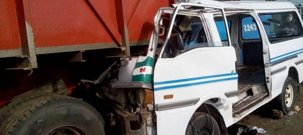 File photo of an Accident scene of the Lagos-Ibadan expressway