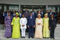 Group photograph by Ministers of Finance from African countries with the President of the African Development Bank, Mr. Akinwumi Adesina and Nigeria's Minister of Finance, Mrs. Kemi Adeosun (left in front row), during the regional meeting of the AfDB on accelerating Africa's growth and development in Abidjan, Cote d'Ivoire on Saturday, January 13, 2018 Photo: Media Office of the Minister of Finance, Federal Ministry of Finance