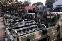 Nigerian Army receives armored vehicles from Innosson Motors. [Photo credit: Official twitter handle of the Nigerian Army]