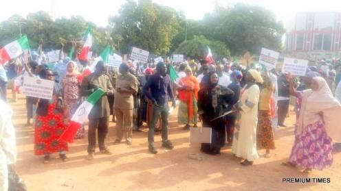 Protesting Kaduna workers